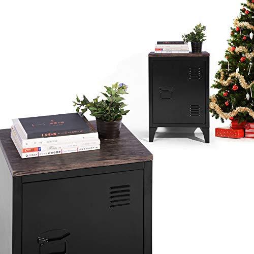 FITATHOME opbergkast, metalen opbergkast, kantoorkast, File Locker Cabinet,2 niveaus Open opbergplanken met MDF top & 3 deuren voor Home Office Study Slaapkamer Woonkamer