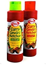 Hela 2 Flavor Curry Gewurz Ketchup (1) Mild and (1) Hot - 2 Pack Bundle - 300 ml each