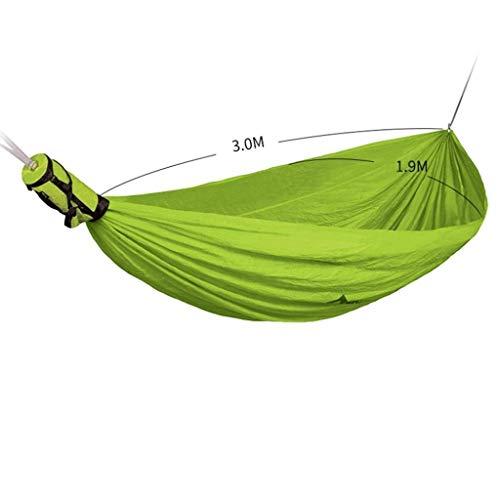 Doppelhängematte, für Outdoor Ultralight Hängebett Camping, tragbare Hängematte mit Rucksack (Color : Grün)