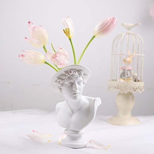 LCDIEB Skulptur Apollo Menschliche Gesichtsvase La Marseillaise Kunstvase Giuliano de 'Medici Vase Ausstellungsraum Dekorative Feigenkopfform Vase, 17cm Keine Blumen