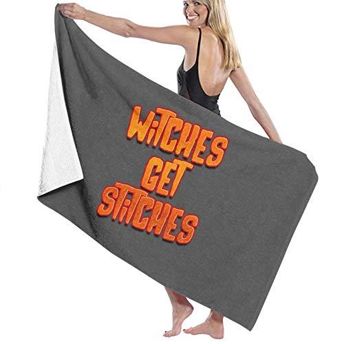 U/K Witches Get Stitches Toalla de baño de secado rápido