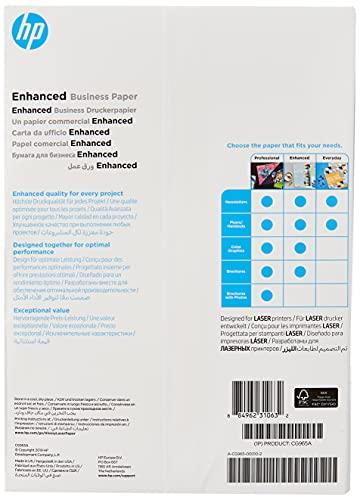 HP Enhanced Business Photo Paper, CG965A, 150 hojas de papel fotográfico brillante avanzado, compatible con impresoras láser, A4, peso del material de impresión 150 g/m²
