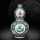 HongLianRiven Muebles Excelentes cerámica del florero de Porcelana Cerámica de Jingdezhen Capitales Estilos artístico clásico táctil en Colores Pastel de Porcelana 12-16