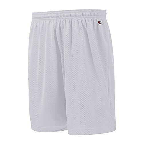 Champion Adult Mesh Short, Athletic Gray, Small