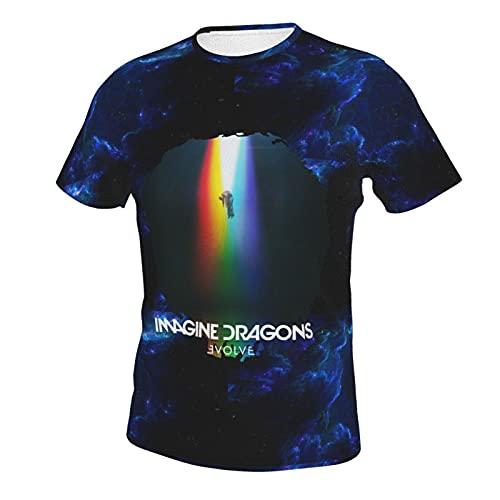 Purezaa Imagine The Dragons Evolve - Maglietta a maniche corte, da uomo, colore: Nero