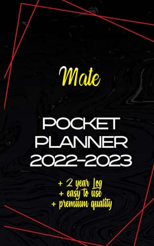 Mate Pocket Planner 2022-2023: Monthly Pocket Planner, Appointment Calendar Purse Size 5x8, Monthly Organizer Calendar Agenda, 24 Months Two Year Personalized Planner,