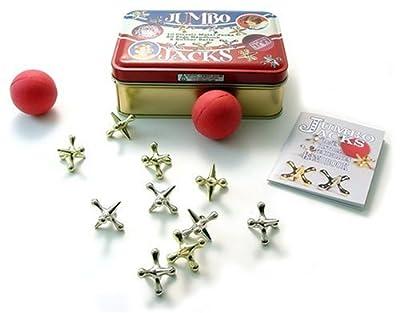 Jumbo Jacks in a Classic Toy Tin, Jacks Game, Vintage Toys