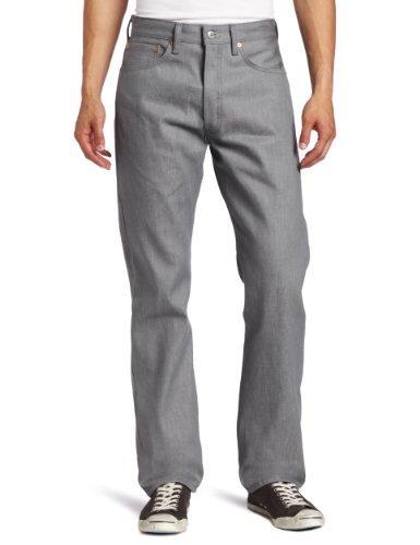 Levi's 501 Original Fit Jeans, Silver Rigid, 30W / 32L Homme