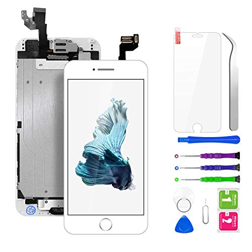 BuTure Schermo per iPhone 6 LCD Touch Display Bianco