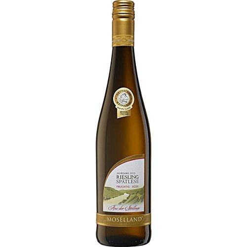 Moselland Riesling, Spätlese, weiß lieblich Weißwein ( 6 x 0,75l)