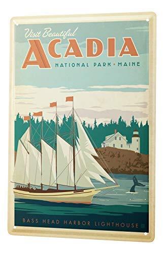 qidushop Décoration Murale pour Homme Motif aventurier Acadia National Park Maine