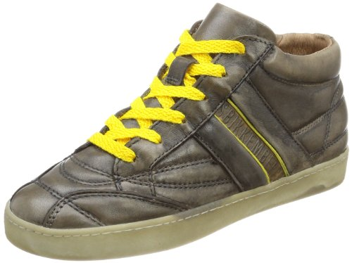 Bikkembergs Pro-Soccer D94 Leather TAMP./LEATHERMUD/Yellow, Peu Enfant Mixte - Marron - Braun (Mud/Yellow), 37 EU