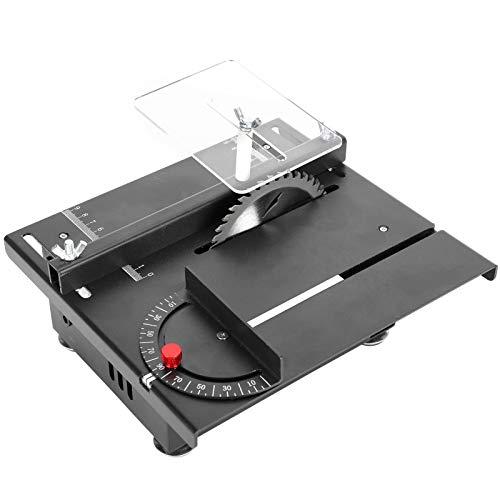 Mini sierras de mesa de precisión, sierra de mesa multifuncional de 40 mm, ajuste de ángulo de velocidad ajustable de 0 ° -90 °, sierra de mesa portátil para manualidades con modelos(Enchufe de la UE)