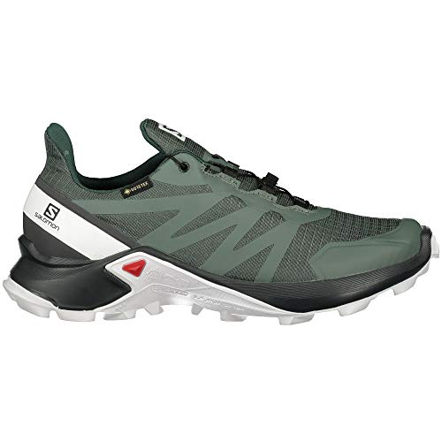 SALOMON Damen GTX Cross-Laufschuh, Balsam Green/Ebony/White