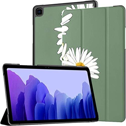 Estuche para Tableta Samsung Galaxy Tab A7 de 10,4 Pulgadas 2020 (sm-t500 / t505 / t507), ilustración Vectorial de Tres Margaritas en la Cubierta del Soporte de múltiples ángulos con luz de Encendido