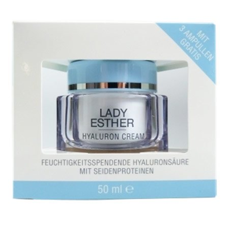 Lady Esther Cosmetic Hyaluron Cream inkl. 3 Hyaluron Ampullen