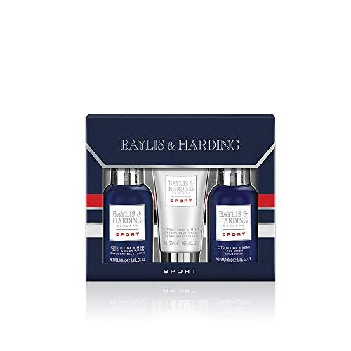 Baylis & Harding PLC Coffret Cadeau Trio de Toilettage Citron Vert/Menthe pour Hommes de