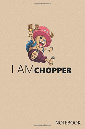 I am Chopper: Anime Lover Notebook, 120 Squared Pages, 6 x 9, Gift, School&Office, One Piece, Chopper