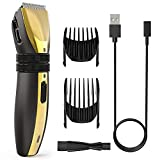 ieGeek Hair Clipper for Men Professional Hair Trimmer Shaver Barber Clippers Cordless Hair Cutting Kit USB Rechargeable Head Shaver for Kids with Low Noise