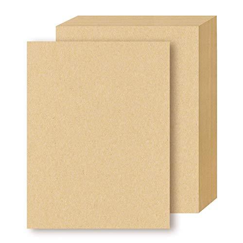 TOKERD 50 hojas Papel de Estraza A4 Papel Kraft Cartón kraft Natural 300GSM Papel de Estraza Grueso para Impresora y DIY Artesanal