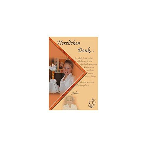 15 Individuelle Fotokarten als Danksagung, Danksagungskarte K68, Kommunion, Konfirmation, Firmung im Format 10x15 cm inkl. hochwertigem farbigen C6 Umschlag