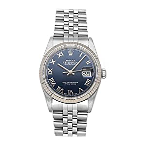 Fashion Shopping Rolex Datejust Mechanical (Automatic) Blue Dial Mens Watch 16234