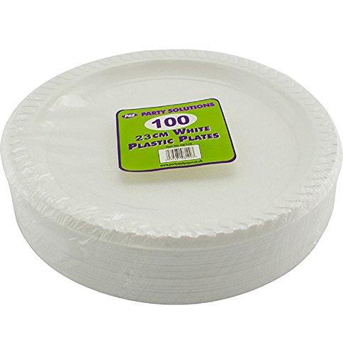 Platos plastico blancos resistentes 23cm ideales para comidas