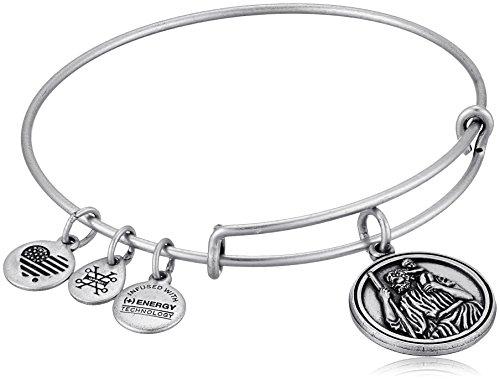 Alex and Ani Saint Christopher III EWB Rafaelian Silver Bangle Bracelet