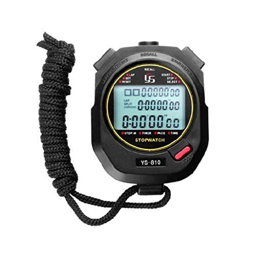 GUMEI Temporizador de cronómetro Digital Temporizador de intervalos con Pantalla Grande Tres Filas de 100 cronómetros de cronómetro Entrenamiento en Pista y Campo