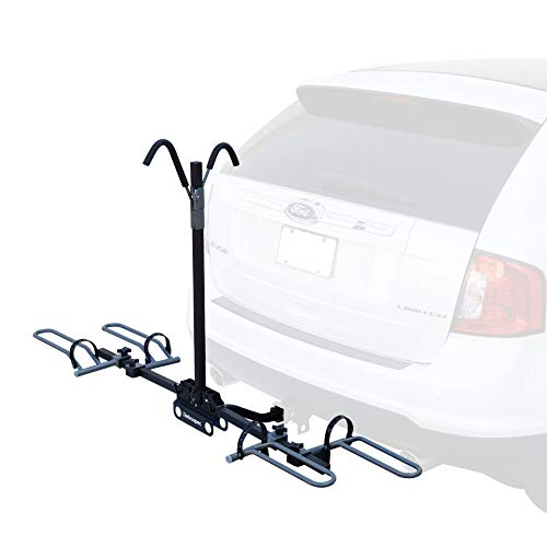 Retrospec Lenox Car Hitch Mount Tray Bike Rack with 2-inch Receiver; 2 Bicycle Carrier