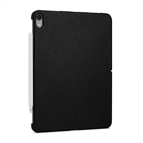 """StilGut Leder-Hülle kompatibel mit Apple iPad Pro 11"""" (2018) Back-Cover Case, Schwarz"""