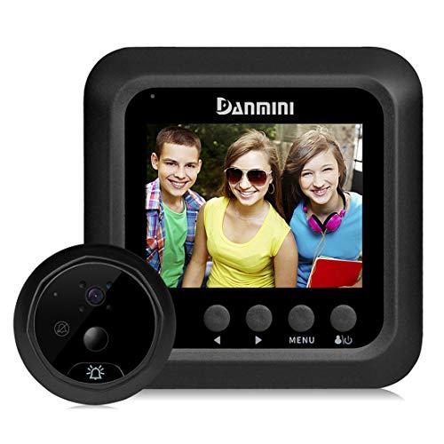 Yangjian Danmini Q5 PIR 2,4-inch scherm 2,0 MP beveiligingscamera, geen storing, TF-kaart, nachtzicht, PIR-bewegingsdetectie, sensor, camerabehuizing, video-opname, Zwart