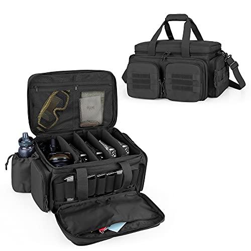 DSLEAF Tactical Pistol Range Bag for 5 Handguns, Shooting...