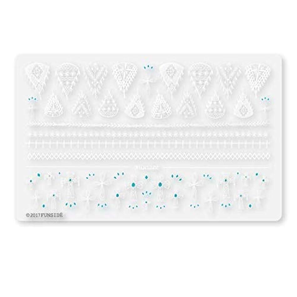 絞るスカルク気怠い未硬化ジェル対応 Crochet + クロシェクロス ネイルシール ネイルステッカー クロッシェ クロス エスニック ボヘミアン 貼りやすい 貼るだけ 極薄シート 日本製