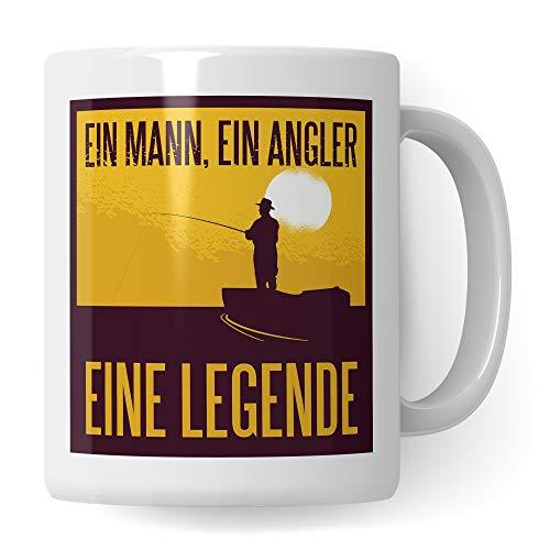 Pagma Druck Tasse Angel, lustige Geschenke für Angler, Angeln Becher Fischen Fisch Angelrute Männer Kaffeebecher, Kaffeetasse Geschenke für Fischer, Kaffeebecher Spruch