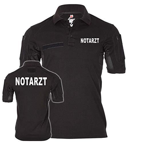 Copytec Tactical Poloshirt Notarzt Rettungsdienst Retter Ersthelfer Arzt Doktor #24956, Größe:M, Farbe:Schwarz