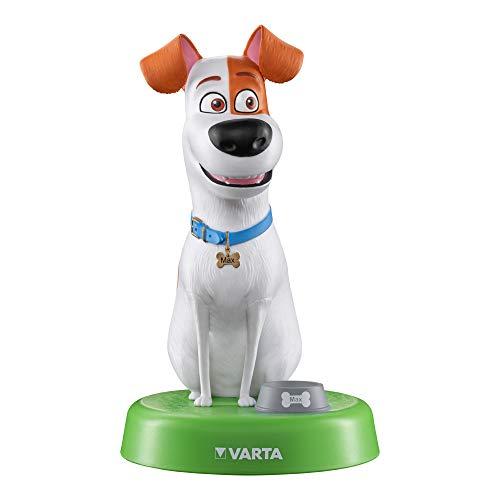 VARTA Pets Nachtlicht Max (für Kinder inkl. 3xAAA Longlife Power Batterien Taschenlampe, Orientierungslicht, Stimmungslicht für Schlafzimmer mit Touch-Sensor und An- und Ausschalt-Funktion)
