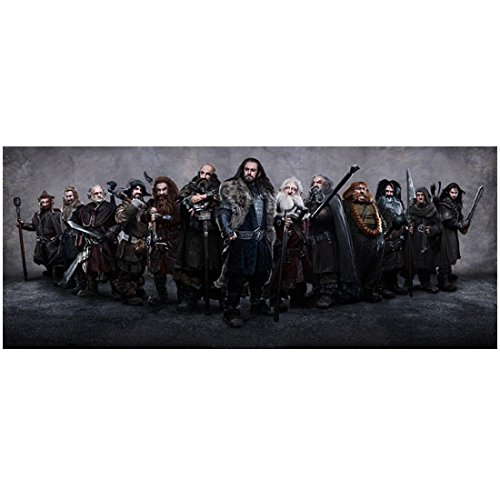 Graham McTavish as Dwalin with cast from The Hobbit 8 x 10 Inch Photo