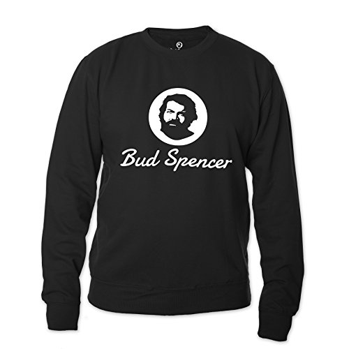 Bud Spencer Herren Official Logo Sweatshirt (schwarz) (M)