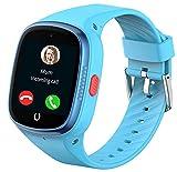 Reloj Inteligente para Niños con Gps 4G Smartwatch Niña con WIFI LBS Impermeable WhatsApp Podómetro Videollamada Chat SOS Posición en Tiempo Real Desactivar en Clase Compatible con Android e IOS