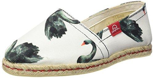 MISS HAMPTONS Black Swan, Alpargatas para Mujer, Muticolor, 36 EU