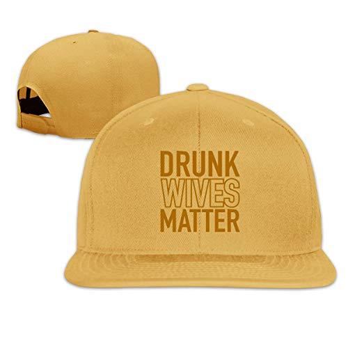 Lsjuee UnisexCap, Classic Drunk Wives Matter Ajustable Hip Hop Flat BillCap