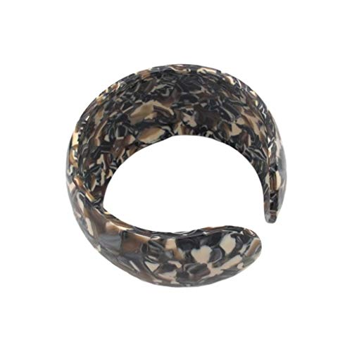 Baiyao Bohemian Leopard Acetate Armband, Acryl Schildkröte Breite Stulpe-Armband-Armband-Statement justierbares Armband für Frauen