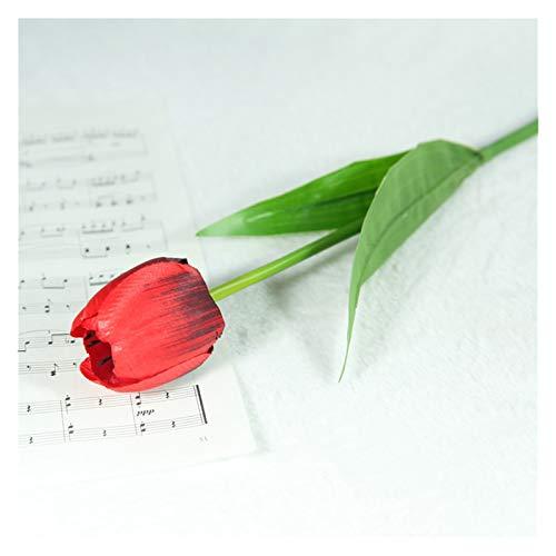 XIAOZSM Trockenblumen 1 stück echte berührungsblumen Latex tulpen Blume künstliche blumenstrauß gefälschte Blume Künstliche Blumen (Color : 5)