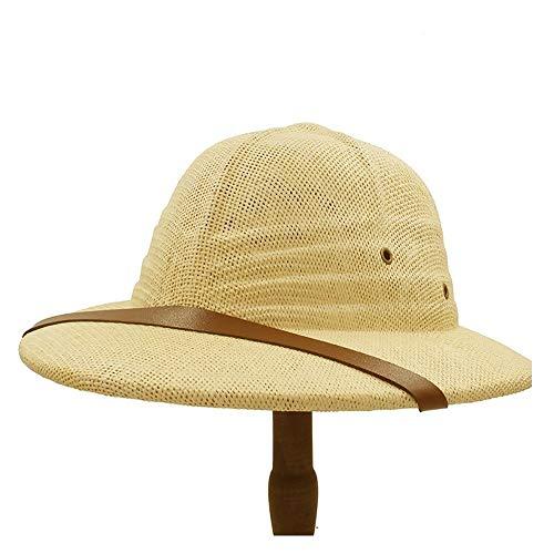 Sombrero De Bombín Simple, Sombrero Militar De La Guerra De Vietnam, Sombrero De Paja De Explorador Para Hombres Y Mujeres, Sombrero De Verano Con Lazo, Sombrero Para El Sol,(Size:57-58cm,Color:Beige)