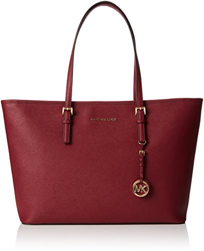 Michael Kors - Jet Set Travel Medium Top-zip Tote, Bolsos totes Mujer, Brown (Acorn), 15x29x42 cm (W x H L)