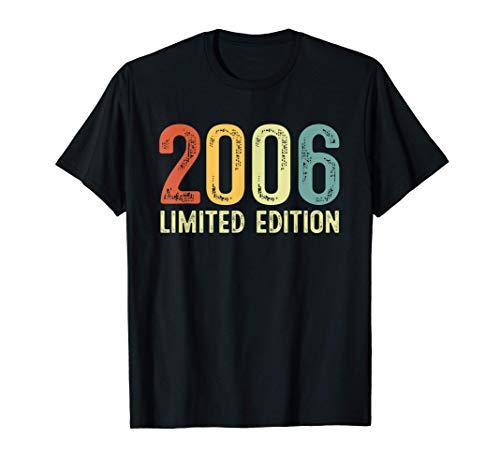 Vintage 2006 15 Anni Compleanno Uomo Donna Regalo Divertente Maglietta