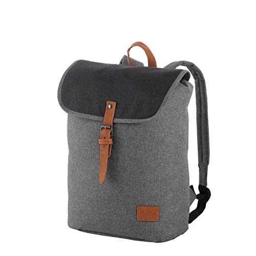 Rada Freizeit Rucksack Creek Small Flap für Jungen und Mädchen, wasserabweisender Daypack für Damen und Herren mit 13 Liter Volumen, Schulrucksack mit geräumigem Hauptfach (Anthracite)