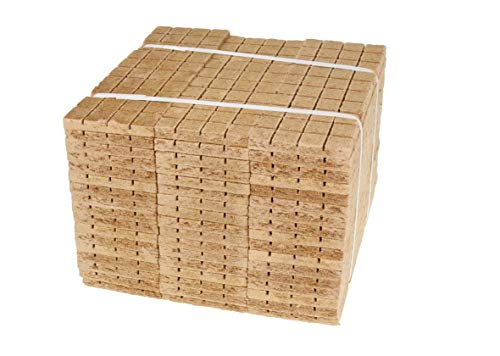 w-mtools Kaminanzünder Würfel 2520 STK - Ofenanzünder 100% natürlich & ökologisch aus Holz & Wachs, Anzünder für Grill, Kamin, Ofen & Lagerfeuer Anleitung & Ratgeber + Zertifiziert