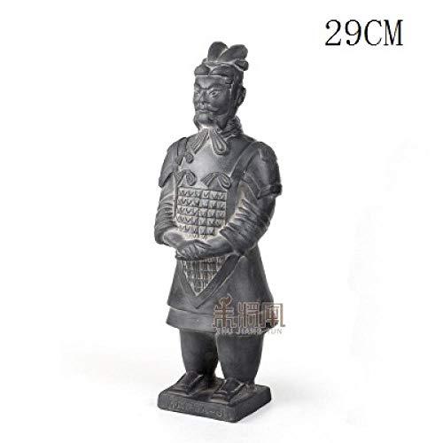 LOSAYM Figuren Skulpturen Statuen Dekoartikel Skulptur Dekoartikel Tierstatuen Gartenfiguren Terrakotta-Armee-Krieger-Verzierungs-Keramik-Figur-Handwerk-Hauptdekor-Qin-Dynastie-Soldaten-Skulptur-Ge